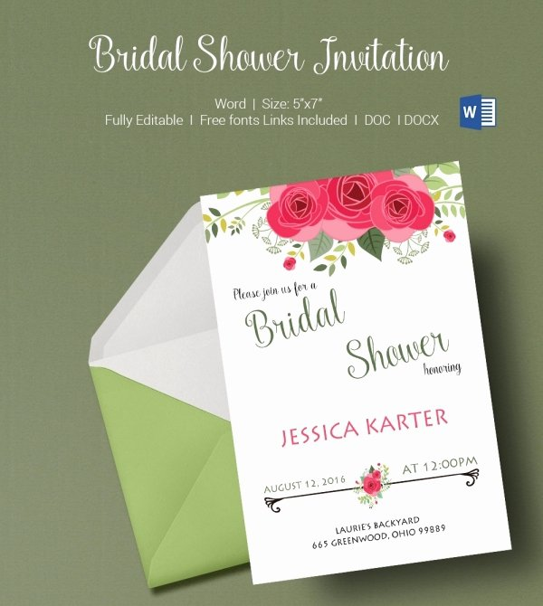 Microsoft Office Wedding Invitation Template Fresh 50 Microsoft Invitation Templates Free Samples