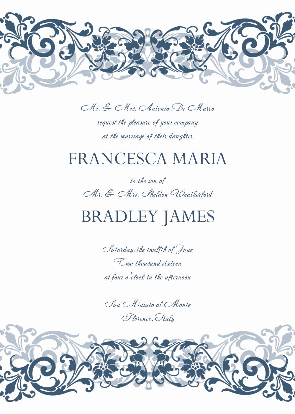 Microsoft Office Wedding Invitation Template Fresh 6 Wedding Invitation Templates Word Excel Pdf Templates