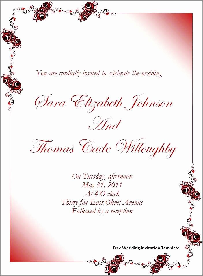 Microsoft Office Wedding Invitation Template Unique Cool Invitation Templates for Word 2010 Picture Mericahotel