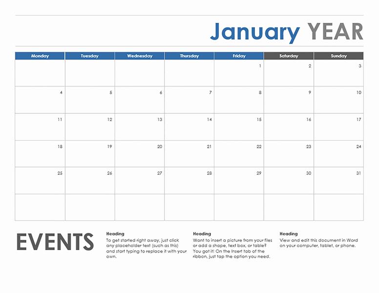 Microsoft Word Schedule Template Beautiful Microsoft Word Calendar Template
