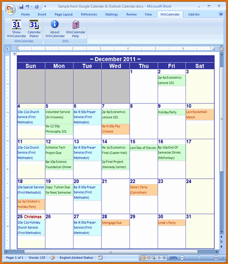 Microsoft Word Schedule Template Best Of 13 Calendar Template Microsoft Word