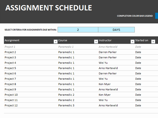 Microsoft Word Schedule Template Best Of assignment Schedule Fice Templates