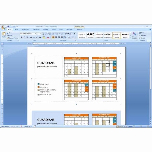 Microsoft Word Schedule Template Fresh Download Pocket Calendar Template Microsoft Word Tips