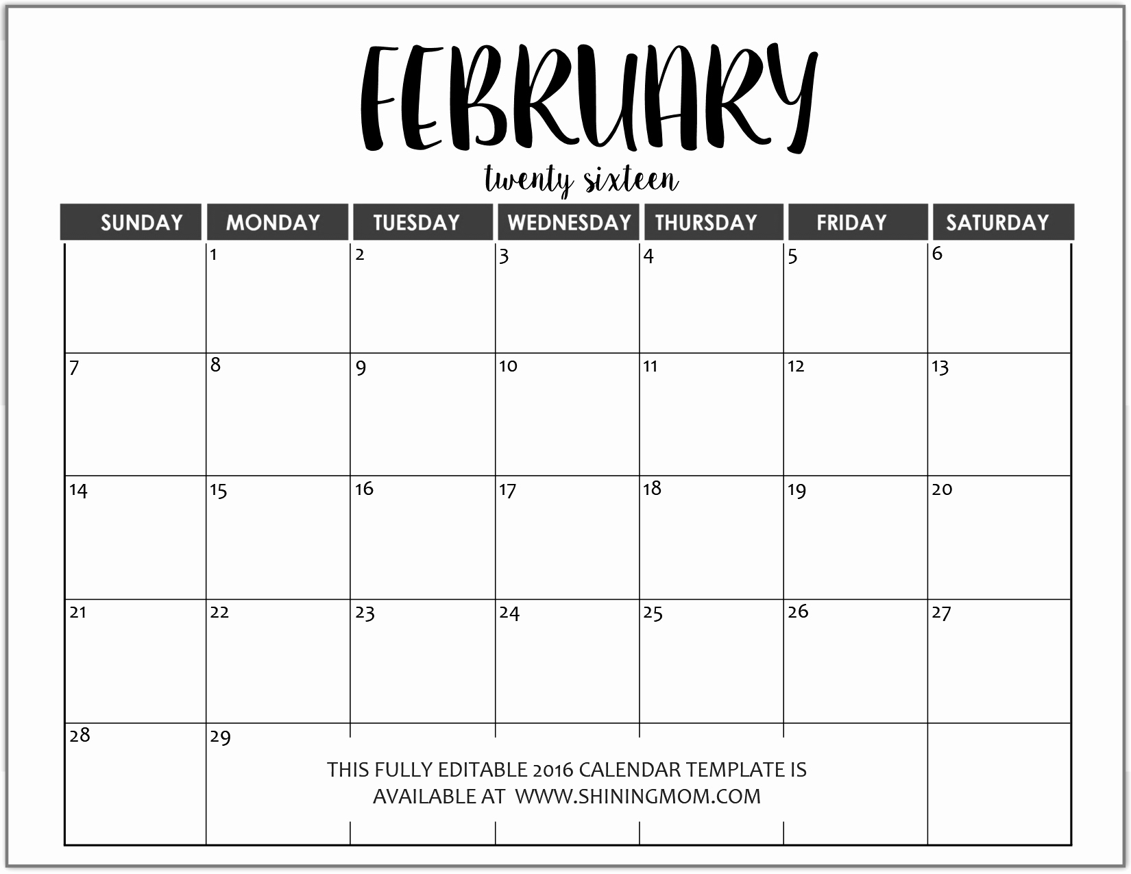 Microsoft Word Schedule Template Fresh Just In Fully Editable 2016 Calendar Templates In Ms Word