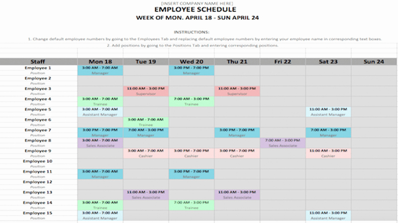 Microsoft Word Schedule Template New Weekly Schedule Template In Word and Excel formats