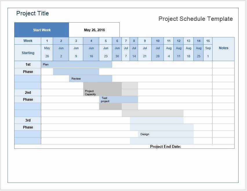 Microsoft Word Schedule Template Unique Project Schedule Templates – Word Templates for Free Download