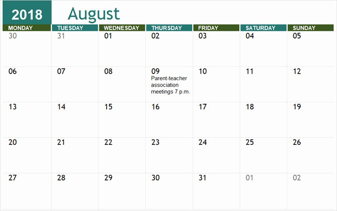 Microsoft Word Schedule Template Unique the Best Free Microsoft Fice Calendar Templates for