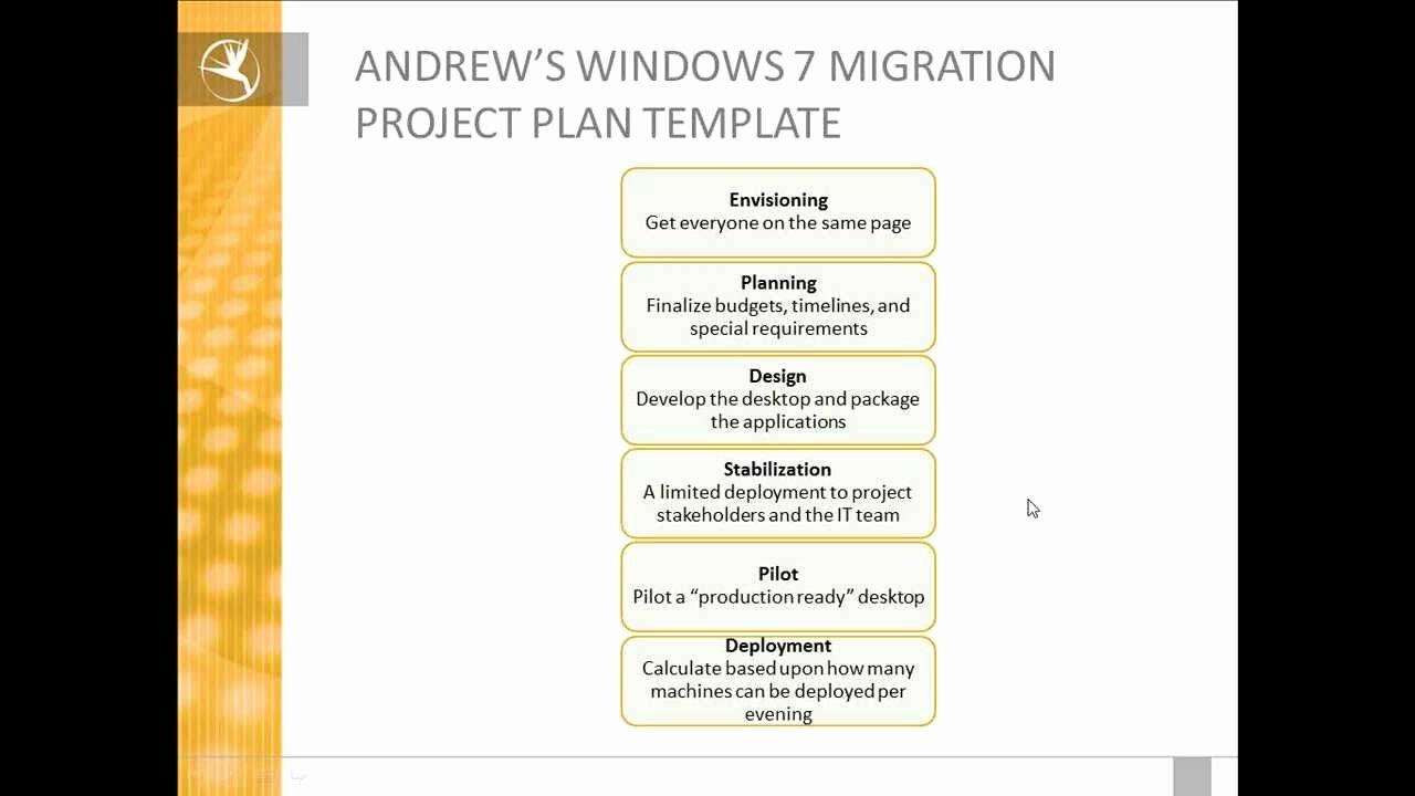 Migration Project Plan Template Best Of Eden Technologies Windows 7 Migration Project Plan