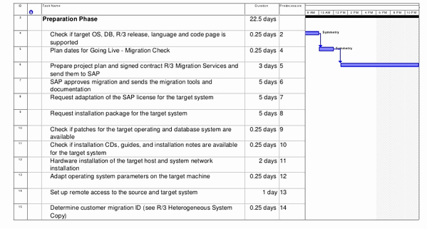 Migration Project Plan Template Best Of Sap Os Db Migration Project Plan Sap Basis Answers