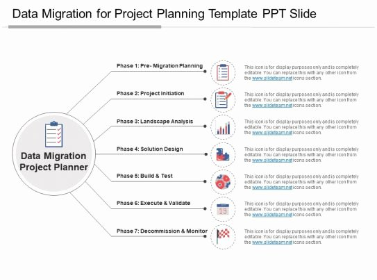 Migration Project Plan Template Fresh Data Migration for Project Planning Template Ppt Slide
