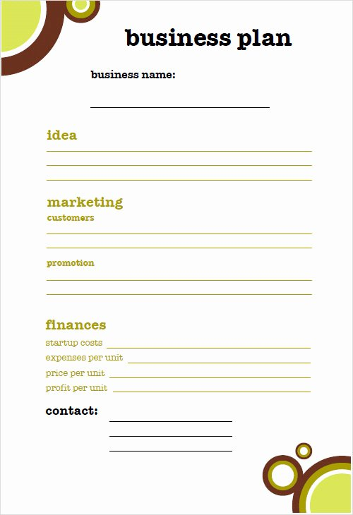 Mini Business Plan Template Fresh Free 18 Sample Small Business Plans In Google Docs