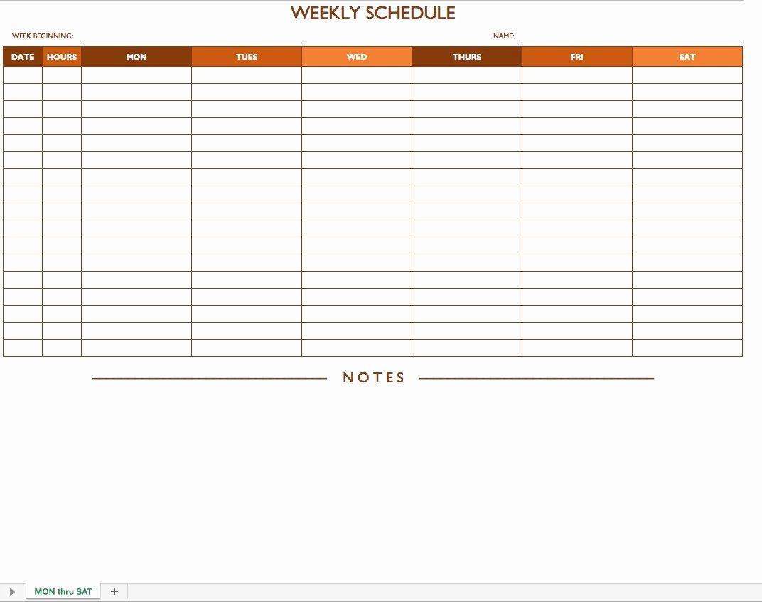 Monday Through Sunday Schedule Template Awesome Monday to Sunday Schedule Free Calendar Template