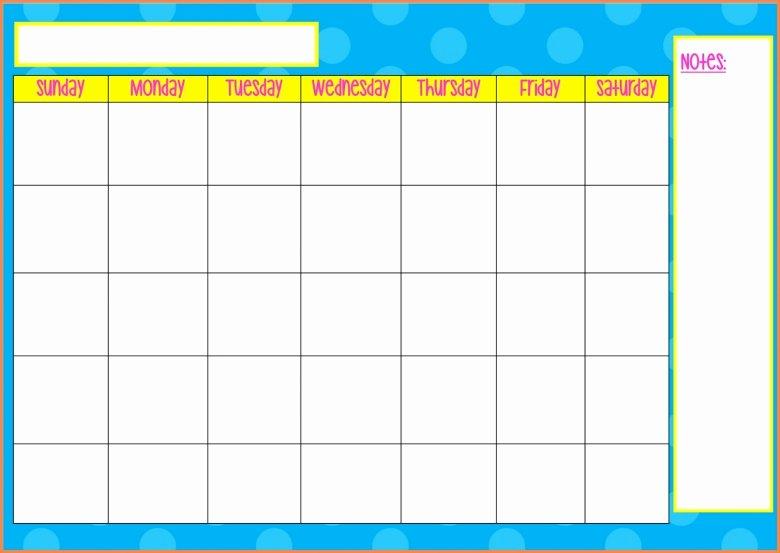 Monday Through Sunday Schedule Template Beautiful Monday Thru Sunday Calendars Free Calendar Template