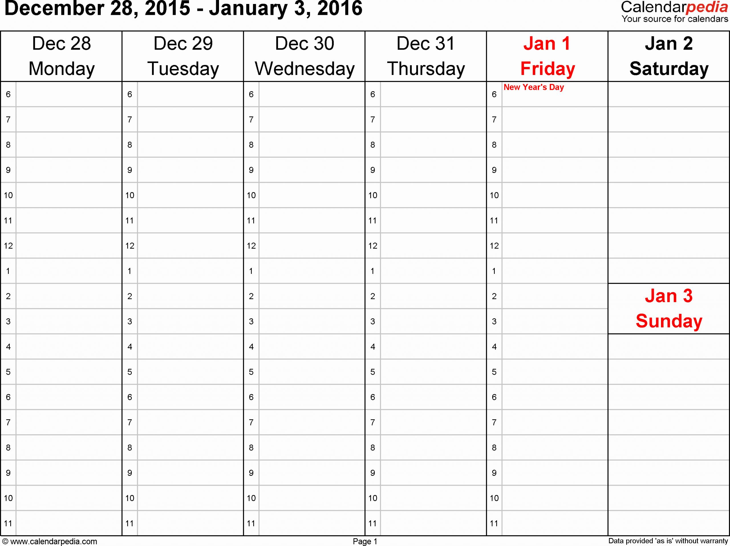 Monday Through Sunday Schedule Template Beautiful Printable Monday Through Sunday Calendars