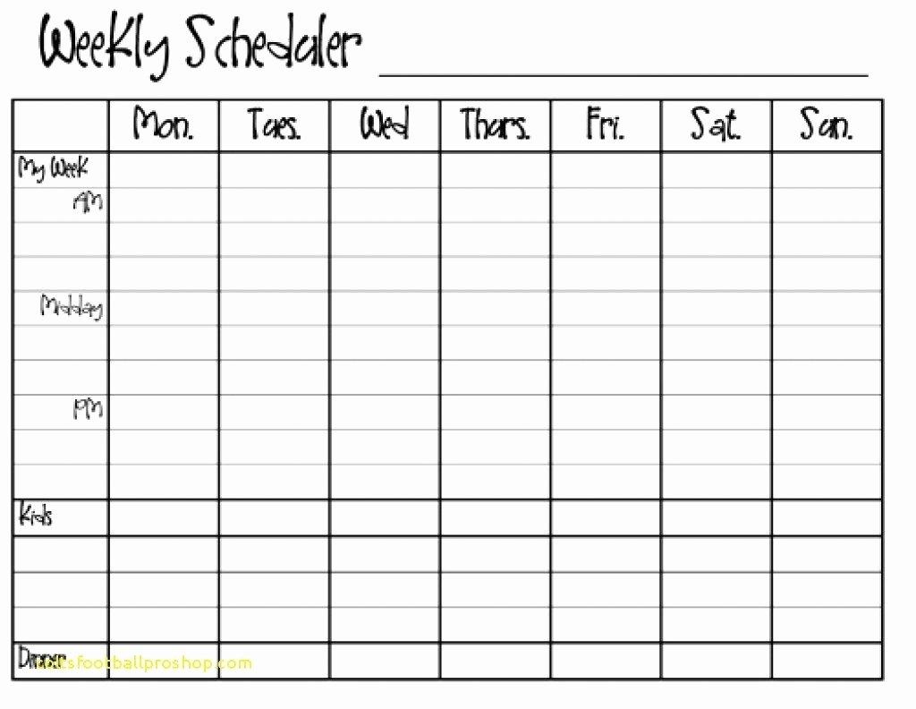 Monday Through Sunday Schedule Template Inspirational Printable Calendar Sunday Through Saturday