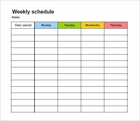 Monday to Friday Schedule Template Awesome Free 11 Blank Calendar Templates In Free Samples