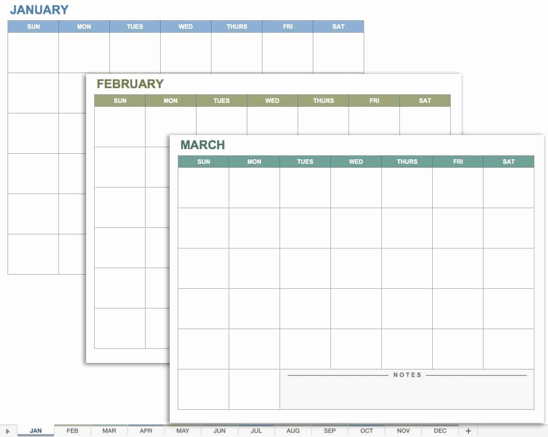 Monthly Calendar Schedule Template Lovely Free Excel Calendar Templates