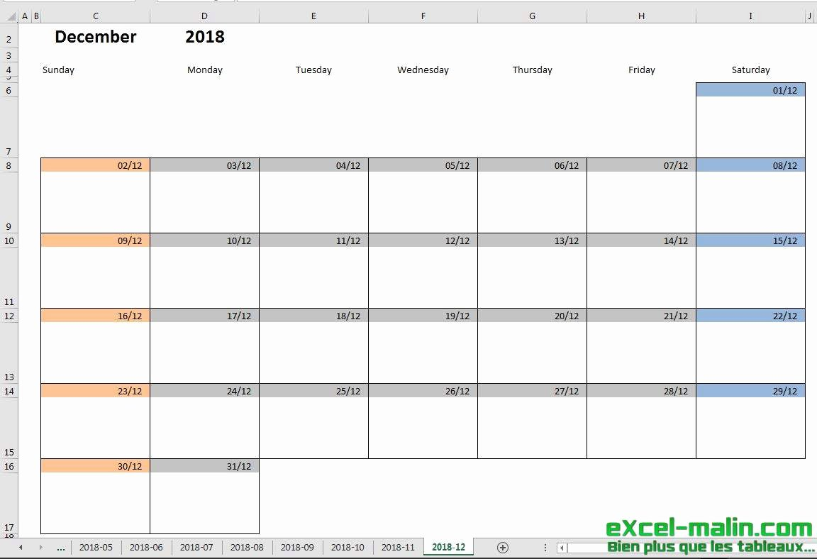 Monthly Calendar Schedule Template Lovely Printable Monthly Calendar Template for Excel