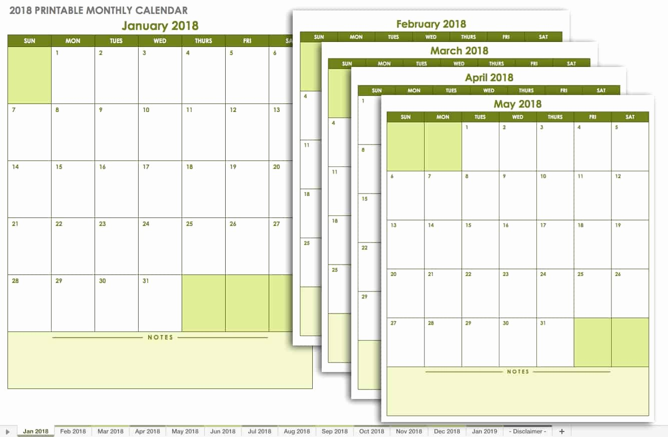 Monthly Calendar Schedule Template New 15 Free Monthly Calendar Templates