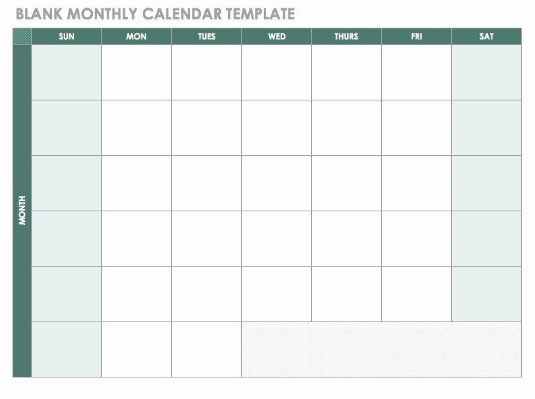 Monthly Calendar Schedule Template New Free Blank Calendar Templates Smartsheet