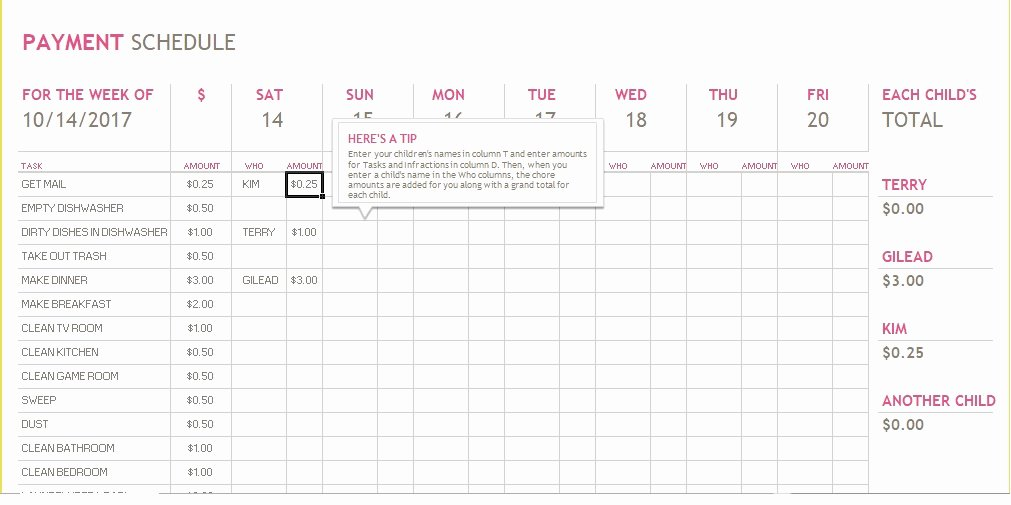 Monthly Payment Schedule Template Awesome 5 Bill Payment Schedule Template Pdf & Word Excel Tmp