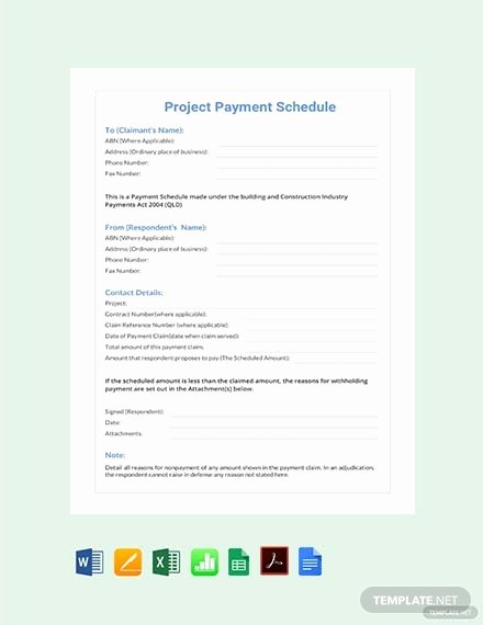 Monthly Payment Schedule Template Beautiful Free Monthly Payment Schedule Template Download 173