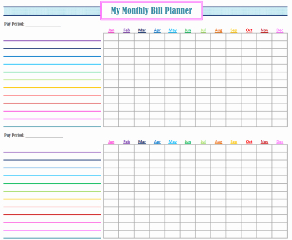 Monthly Payment Schedule Template Lovely Monthly Bill Paying System