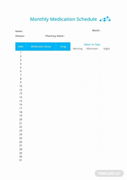 Monthly Payment Schedule Template Lovely Monthly Payment Schedule Template In Microsoft Word Excel