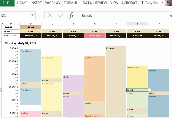 Monthly Schedule Template Excel Best Of Employee Schedule & Hourly Increment Template for Excel