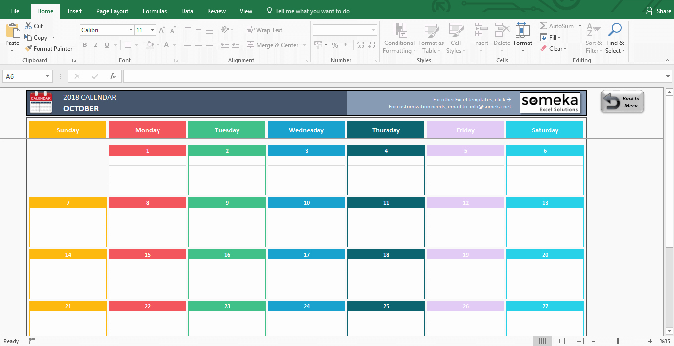 Monthly Schedule Template Excel Lovely Excel Calendar Template 2019 Free Printable Calendar