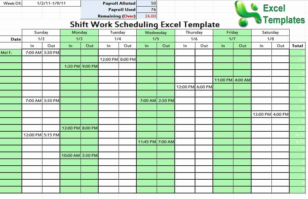 Monthly Shift Schedule Template Beautiful Editable Shift Schedule Archives Schedule Templates