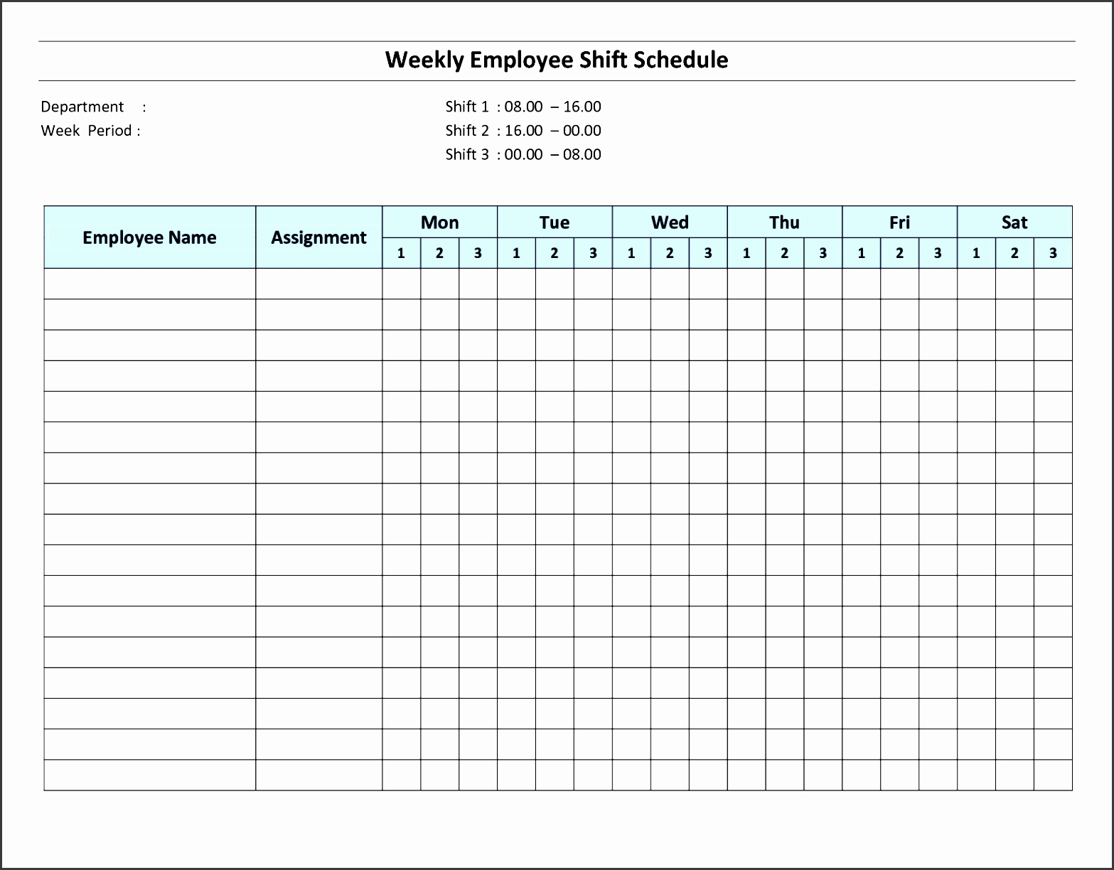 Monthly Shift Schedule Template Inspirational 8 Daily Schedule Template for Employees Sampletemplatess