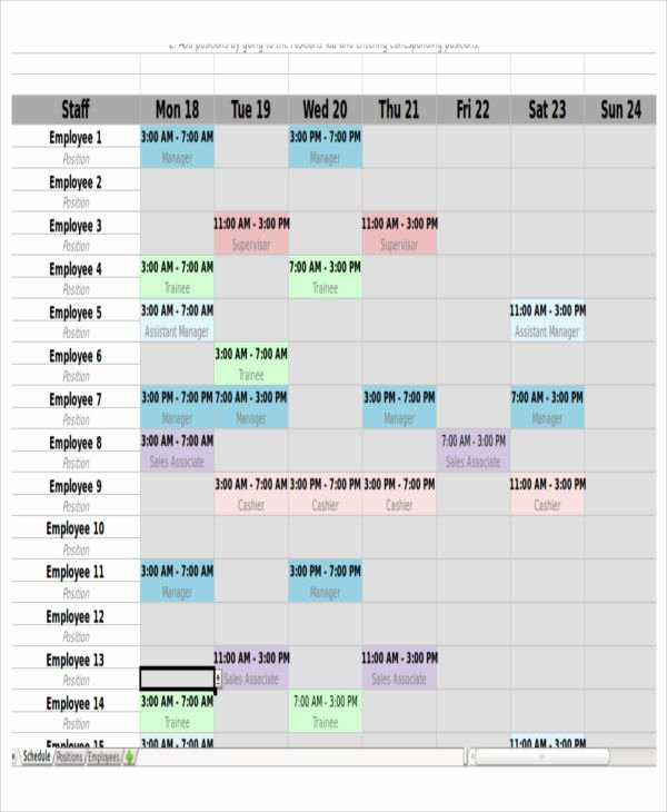 Monthly Shift Schedule Template Luxury 6 Monthly Shift Schedule Templates Free Word Pdf