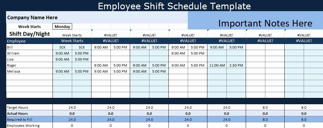 Monthly Shift Schedule Template New Employee Shift Schedule Template Project Management