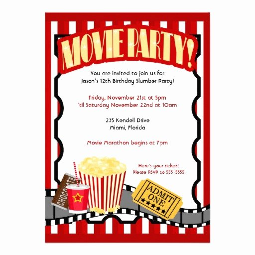 Movie Party Invitations Template Best Of Movie theme Invitations for A Birthday Party Template