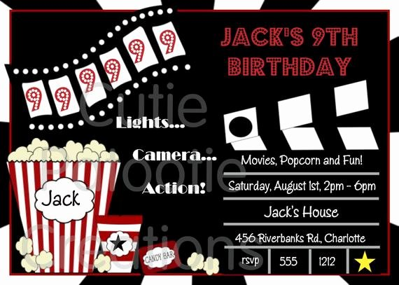 Movie Party Invitations Template Luxury Items Similar to Movie Birthday Invitation Movie Night