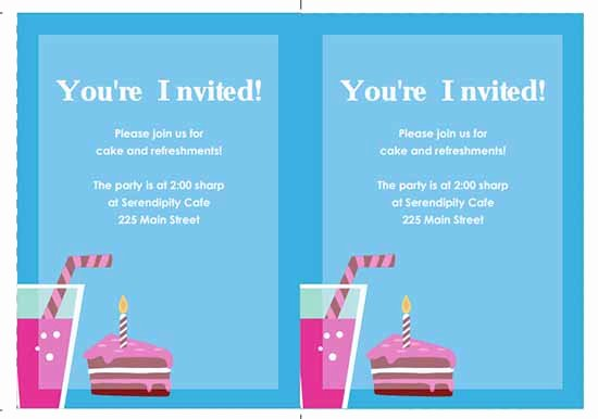 Ms Office Invitation Template Awesome 6 Free Party Invitation Templates Excel Pdf formats