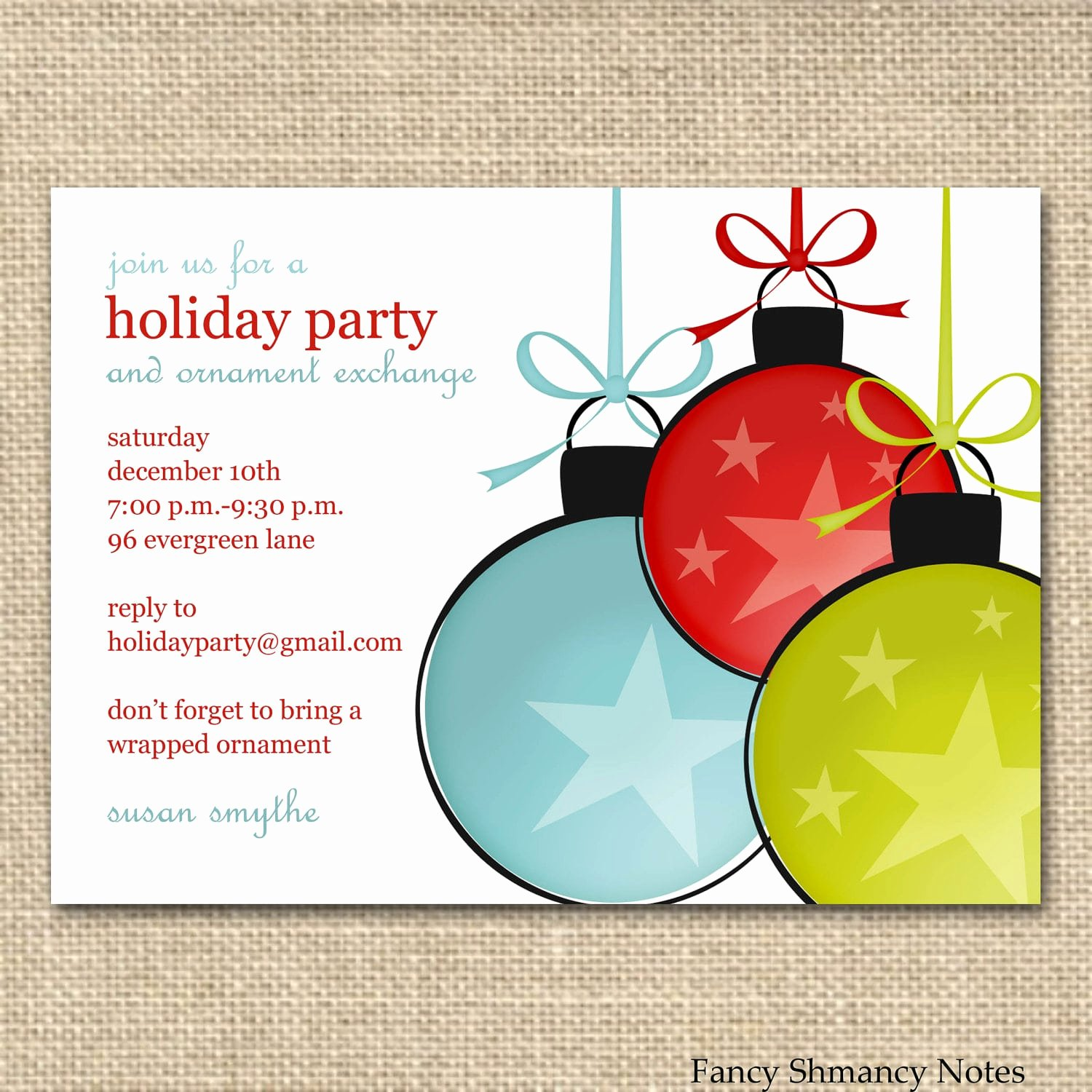 Ms Office Invitation Template Awesome Free Printable Fice Christmas Party Invitations