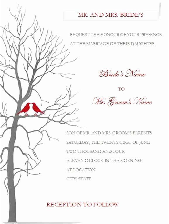 Ms Office Invitation Template Best Of Free Wedding Invitation Templates for Microsoft Word