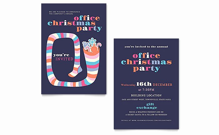 Ms Office Invitation Template Elegant Christmas Party Invitation Template Word & Publisher