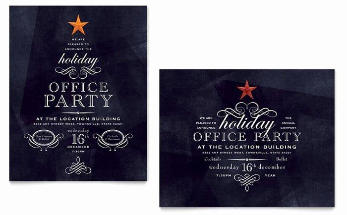 Ms Office Invitation Template Elegant Fice Holiday Party Invitation Template – Party Xyz