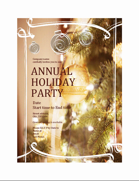 Ms Office Invitation Template Fresh 15 Free Christmas Party Invitation Templates Ms Fice