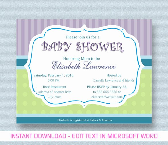 Ms Office Invitation Template New Baby Shower Invitation Template 29 Free Psd Vector Eps