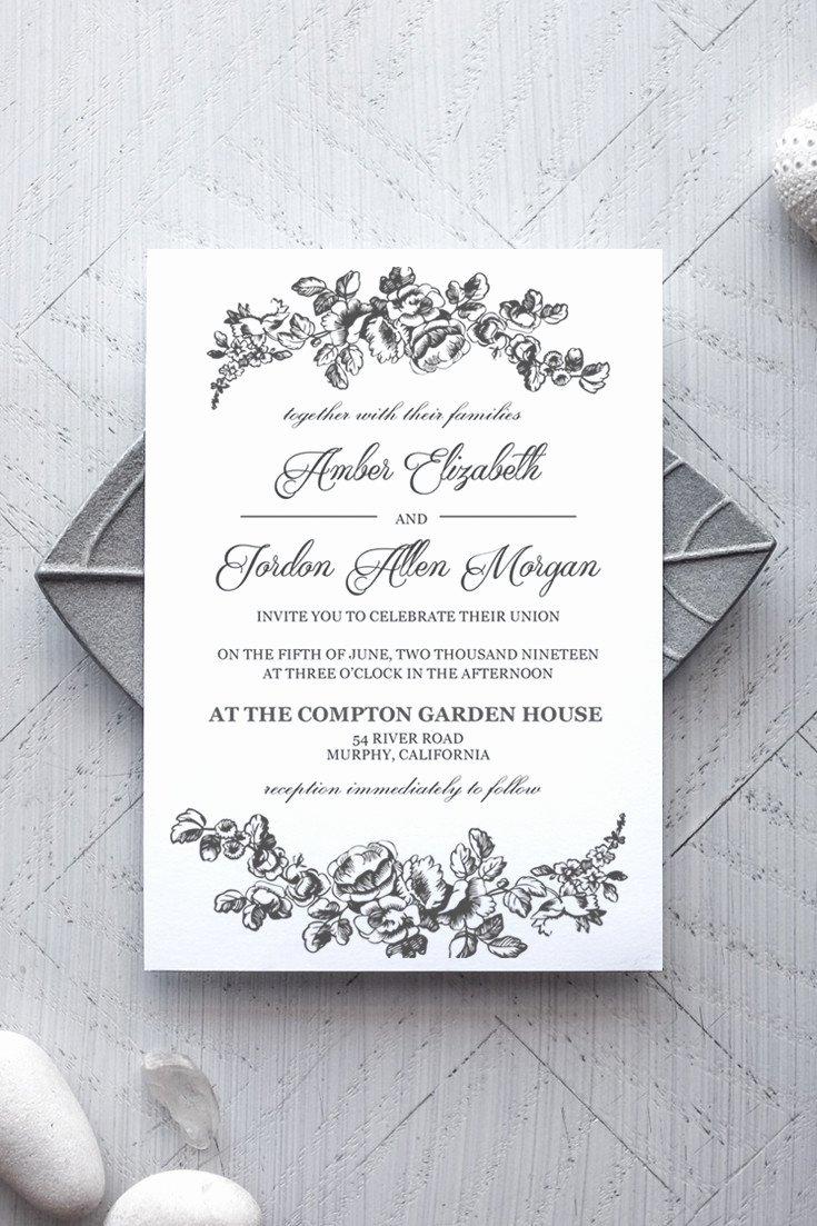 Ms Office Invitation Template New Printable Wedding Invitation Template Rustic Alchemie