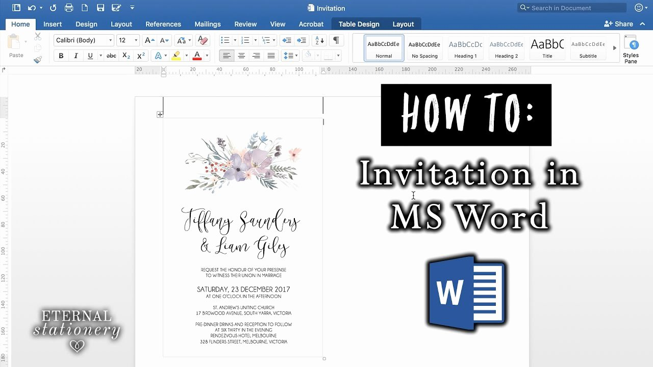 Ms Office Invitation Template Unique How to Make An Invitation In Microsoft Word