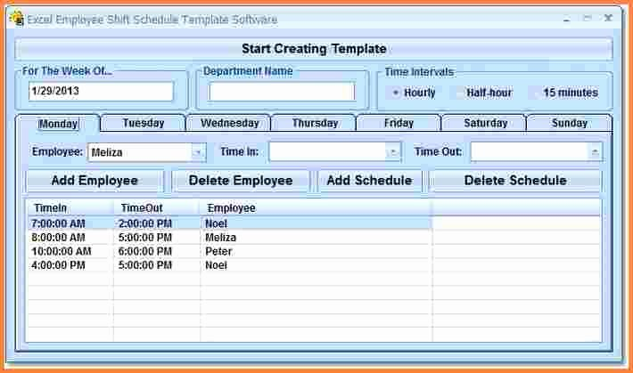 Multiple Employee Schedule Template Beautiful 7 Employee Scheduling Spreadsheet Excel