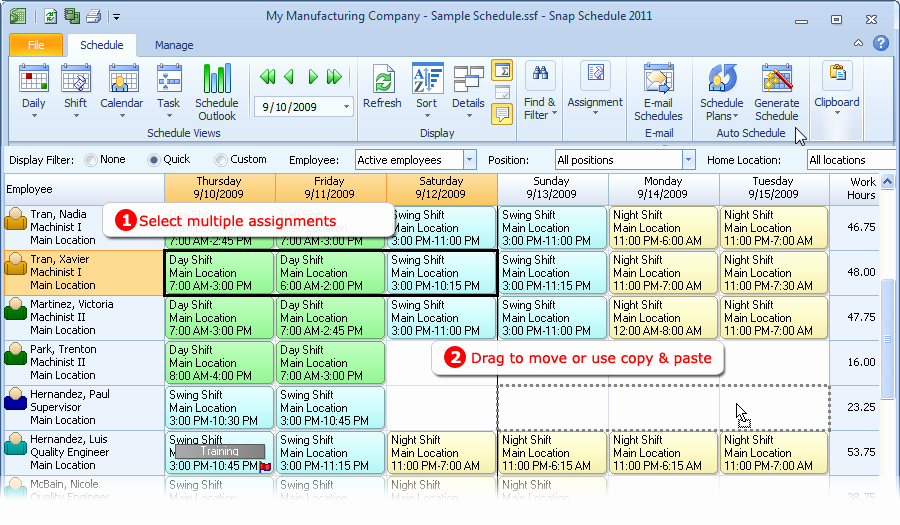 Multiple Employee Schedule Template Elegant Employee Scheduling software