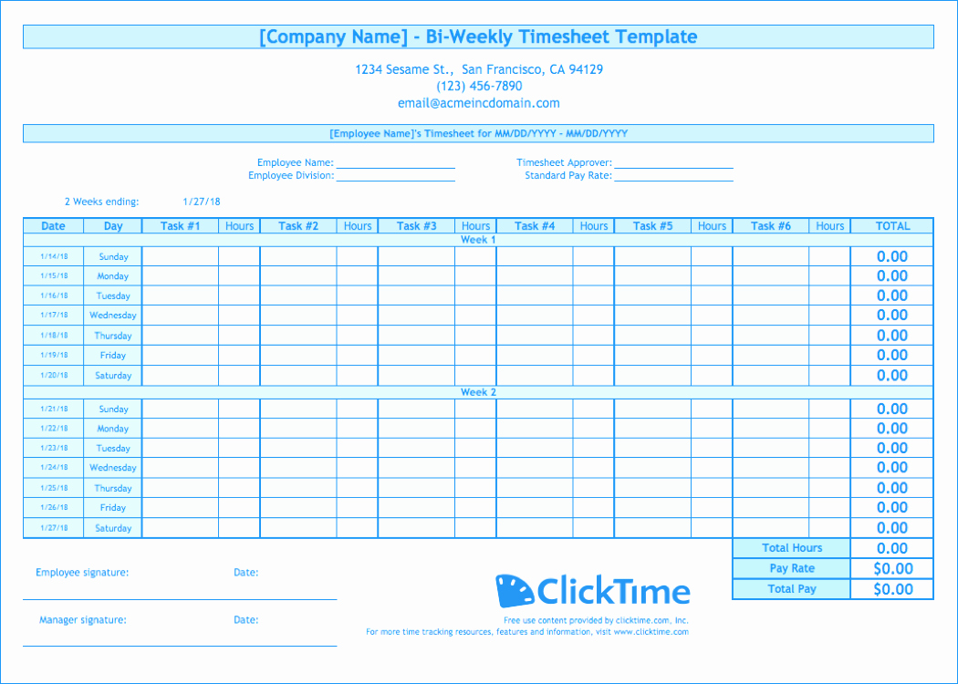 Multiple Employee Schedule Template Lovely Biweekly Timesheet Template Free Excel Templates