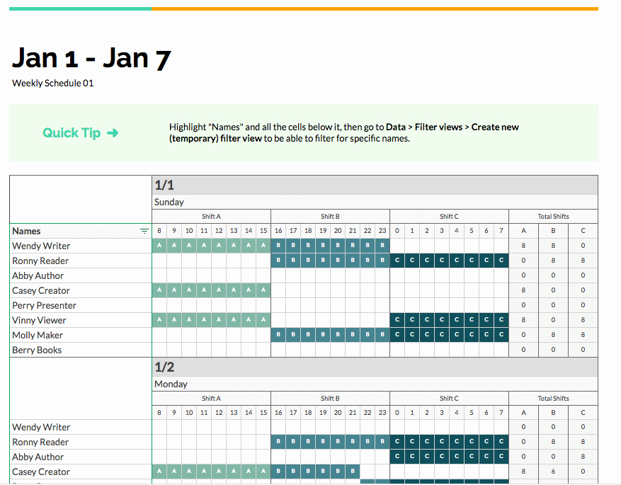 Multiple Employee Schedule Template Luxury 2 Free Ways to An Employee Shift Schedule