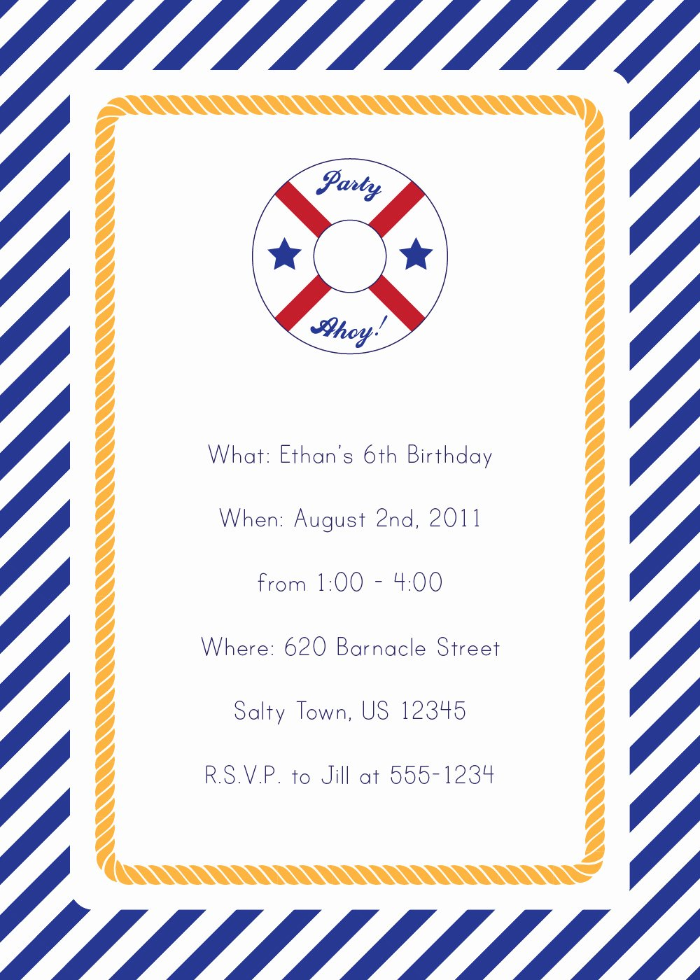 Nautical Invitation Template Free Awesome 40th Birthday Ideas Nautical Birthday Invitation Templates